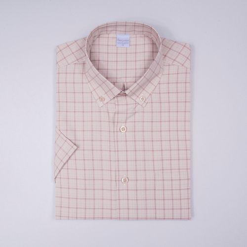 Camisa casual microfibra Bege 049 09363