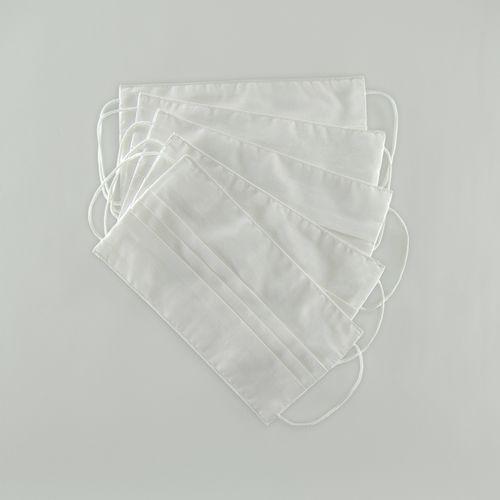 kit com 100 máscaras sociais de algodão brancas 005 09524
