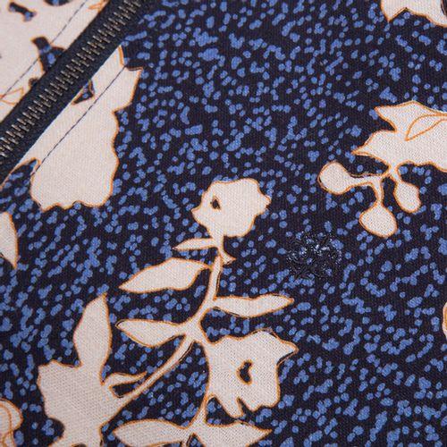 Jaqueta Bomber Estampada Azul